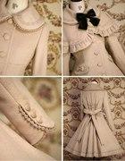 gothic lolita ecru coat