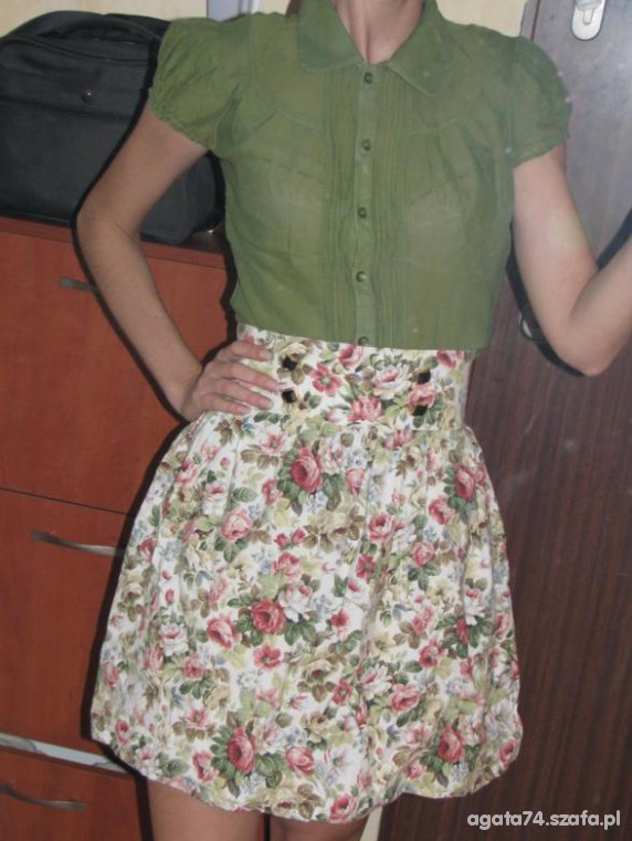 Romantyczne spodnica w kwiaty