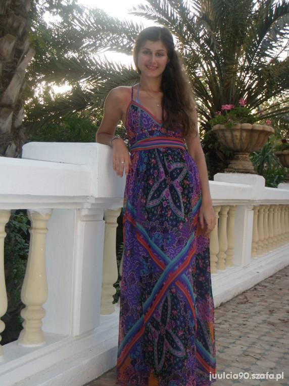Romantyczne Sukienka Maxi Mango