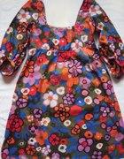 topshop sukienka w kwiaty bufki