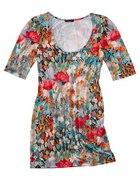tunika sukienka w kwiaty pole maków Clauda Moneta