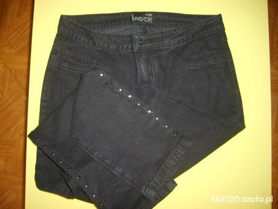 Spodnie spodnie rurki czarne z dodatkami