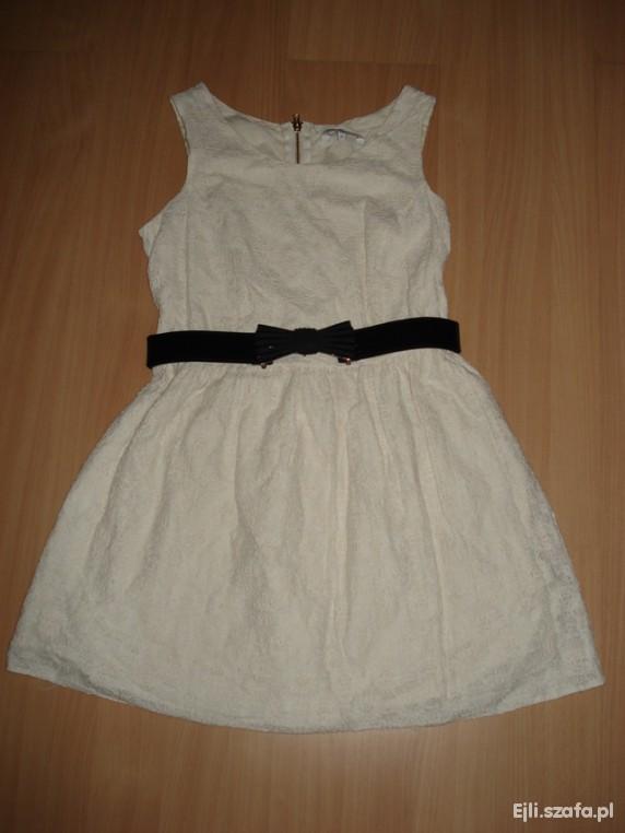 Kremowa koronkowa sukienka NEW LOOK r 42
