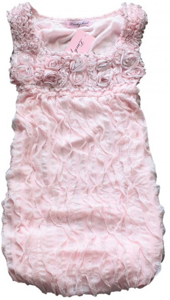 nowa zjawiskowa sukienka z falbankami S M pudrowa