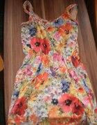 sukienka w kwiatki z sh...