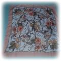 vintage chusta łańcuchy floral morelowa