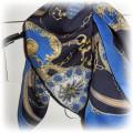 vintage kobaltowa apaszka jak Hermes