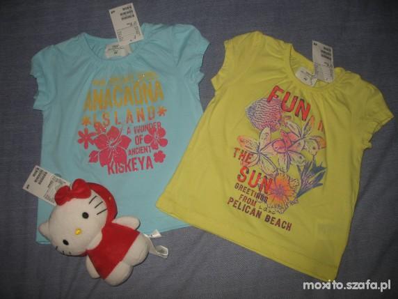 Komplety NOWE H&M 4 BLUZKI SPODNIE I GRATIS HELLO KITTY 80