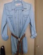 jeans koszula jasna jeansowa