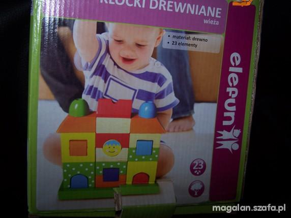 Zabawki Klocki drewniane wieża