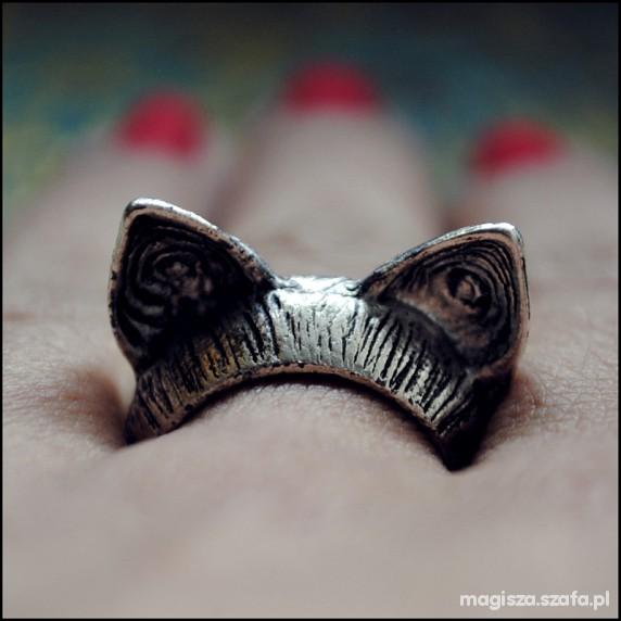 Pierścionki pierścionek kocie uszy