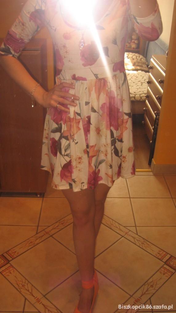Codzienne sukienka w kwiaty