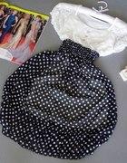 Sukienka vintage retro w grochy