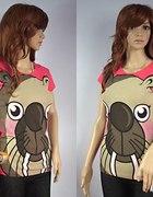 Koralowa koszulka z morsikiem...