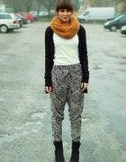 spodnie haremki we wzory