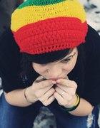 RASTA czapka Zielony Żółty Czerwony