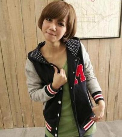 26 GRANATOWA bluza z kropeczkami BM japan style