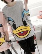 123 szara bluza tunika kaczor Donald BM japanstyle