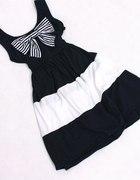 Sukienka czarno biała KOKARDA