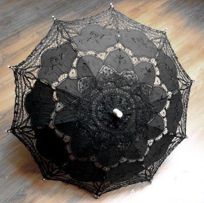 Dodatki koronkowa parasolka