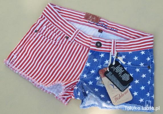 Szorty z flagą USA...