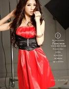 sukienka japan czerwona