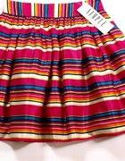 Simple spódniczka spódnica kolorowe paski jedwab