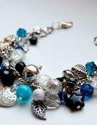 bransoletka srebrno niebieska