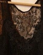 koronkowa czarna bluzka