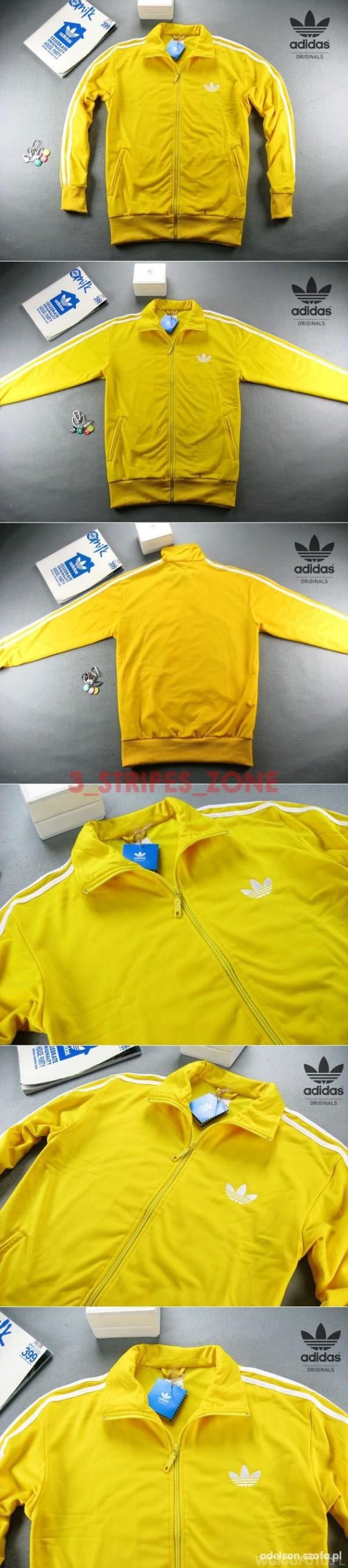 Ubrania bluza zółta adidas