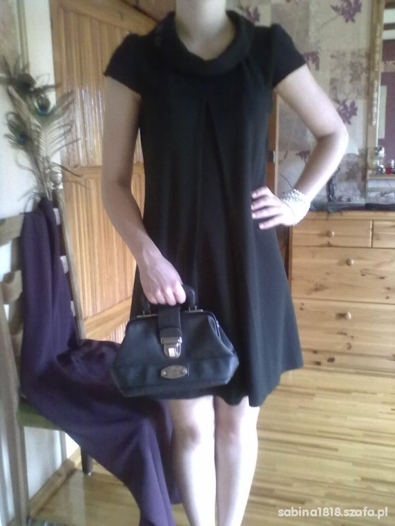 Eleganckie czarna retro sukienka