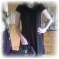 czarna retro sukienka