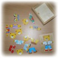 puzzle drewniane ubranka