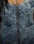 sukienka jeansowa gorsetowa zip...