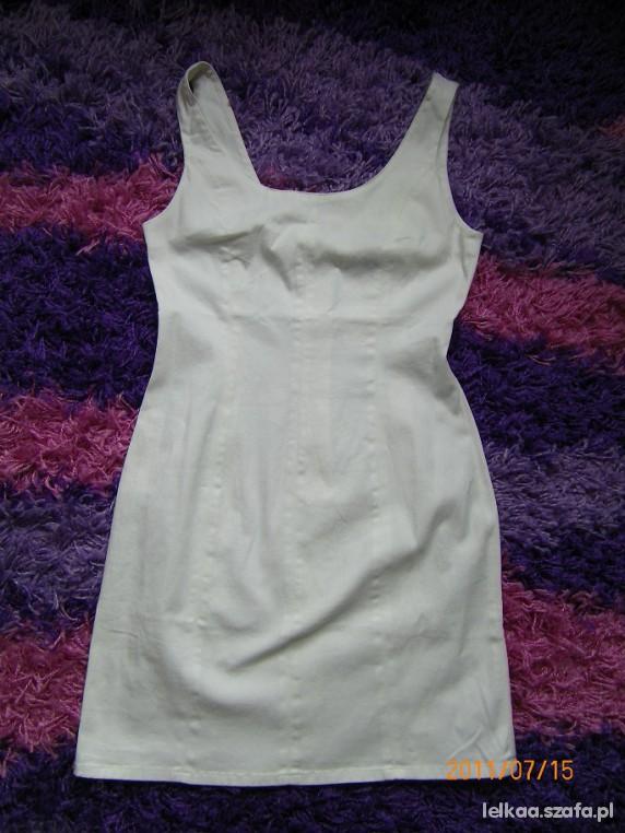 biała sukienka hm