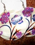 kolczyki koła róże nowe
