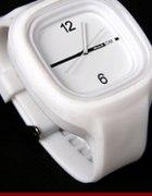 Biały gumowy zegarek Jelly