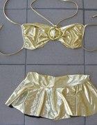 Złoty komplecik idealny na impreze