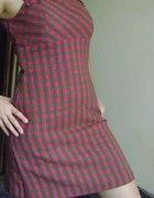 sukienka w kratę wełniana...