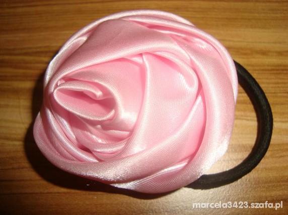 gumka do wlosow z roza