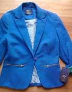 Niebieski żakiet Zara