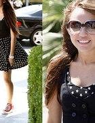 Czarna sukienka w gwiazdki H&M...