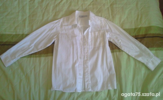 Koszulki, podkoszulki Koszula chłopięca w rozmiarze 116 biała