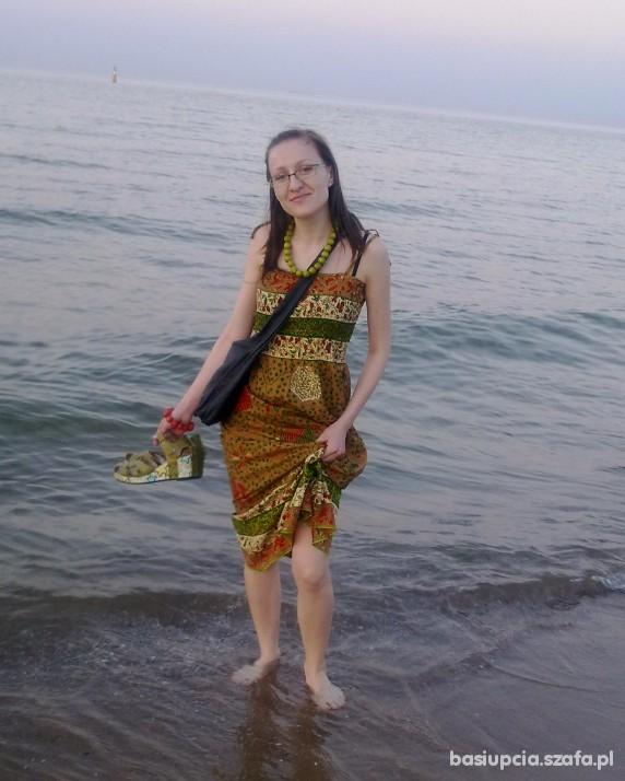 Romantyczne Wieczorny spacer nad morzem