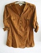 Koszula carmel karmelowa brązowa STRADIVARIUS L