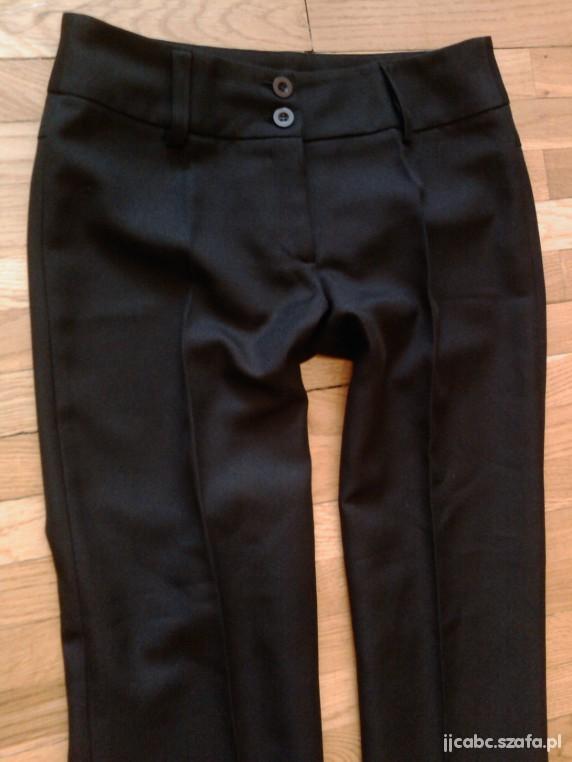 VILA eleganckie spodnie na kant