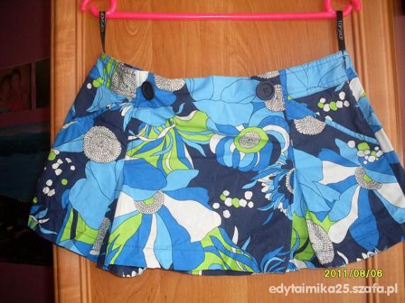 Spódnice spódniczka mini turkusowa
