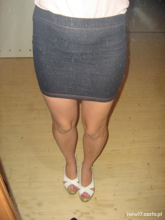 jeansowa mini na gumce atmo