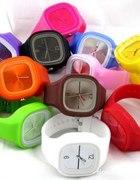 Kolorowe gumowe zegarki HIT SEZONU