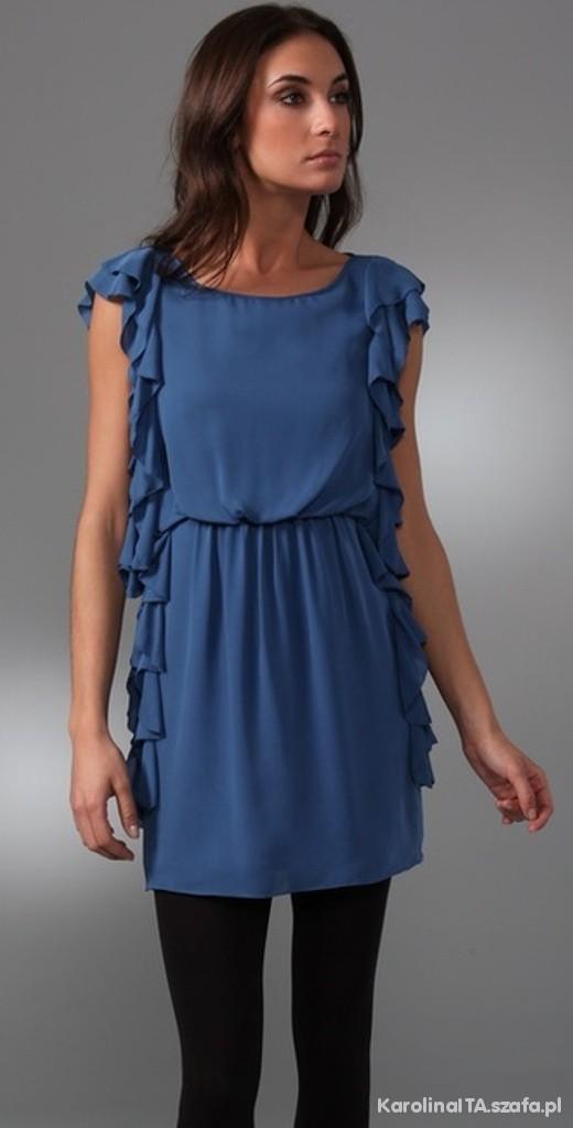 Tibi side ruffle dress...